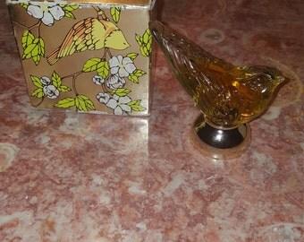Vintage 1970s Avon Song Bird Topaze Cologne 1.5 Fl oz. Full Collectible Free Shipping