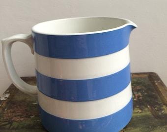 T G Green Cornishware jug