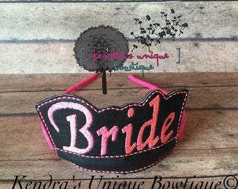 Bride slider, bride crown, bride hair item, bride tiara, crown, tiara, weddings, for the bride, crowns for the bride, hair bow