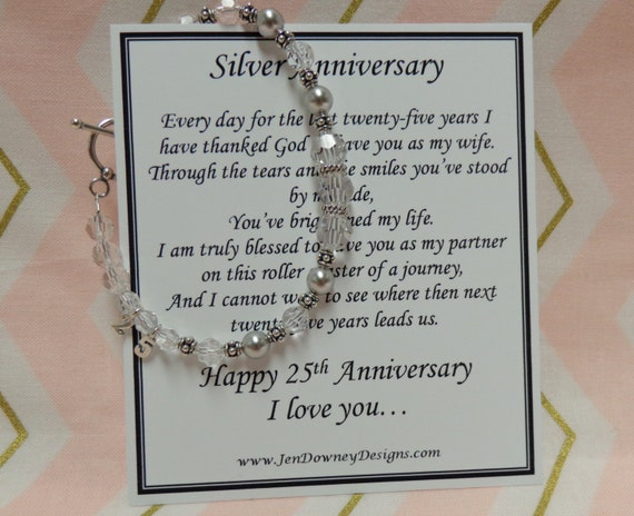 Gift For 25 Wedding Anniversary: 25th Wedding Silver Anniversary Gift For By BrilliantKeepsakes