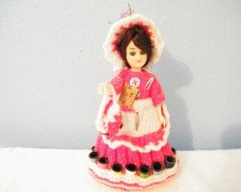 VTG Seamstress Doll - pin cushion - thread holder