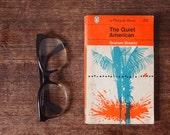 Graham Greene The Quiet American // Penguin Book // 1962 Penguin orange cover book // American classic