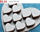 Hot Sale! Flexible Silicone Chocolate Mold Ice Candy Molds - Type M - 10 Classic Flat Heart
