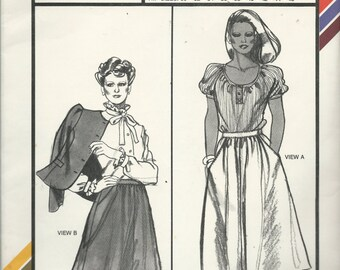 Uncut Vintage Sewing Pattern #418 - Stretch & Sew - FLARED SKIRT - Hidden Closure - Ann Person 1982 - HIP Sizes: 30 - 46 - skirt opens left