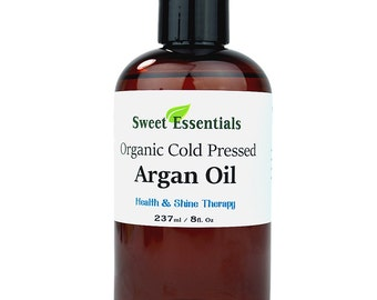 Organic 100% Pure Moroccan Argan Oil - 8oz -  Imported from Morocco