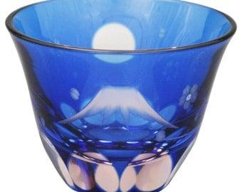 From Japan Edokiriko Guinomi Glass Sake Cup