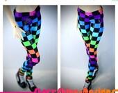 15% Off BJD SD13 1/3 Doll Clothing - Shimmer Neon Checkers Leggings