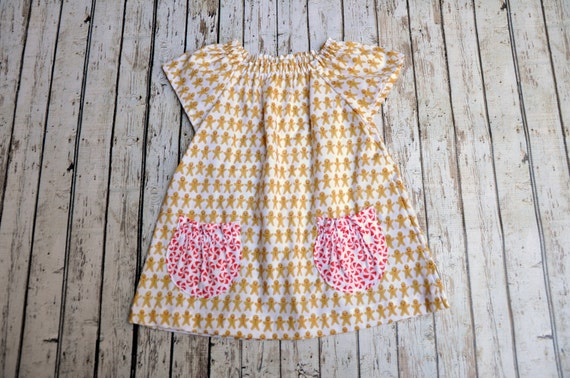 Gingerbread Peasant Dress 12/18 MTH