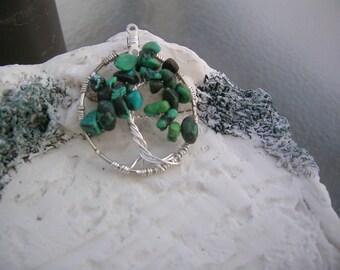 turquoise tree of life pendant.