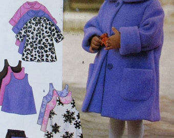 Butterick 3267  Toddler Girls  Coat, Hat, Jumper, Vest and Pants  Sewing Pattern  One Size Fits All UNCUT **Epsteam