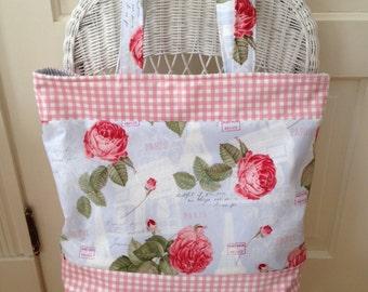 Women's Large Purse, Shoulder Bag, Shopper Tote, Paris-Inspired Purse, Beach Bag, Book Bag, Women's Carry All, Shopper, Market Bag, Purse