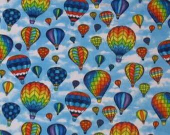 Hot Air Balloon Allover Print Fleece Throw Blanket