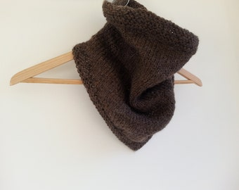 Ready to ship! Alpaca Blend Cowgirl's Cowl CHOCOLATE