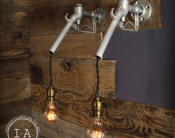 Vintage Industrial Gas Pump Handle Wall Sconce Light