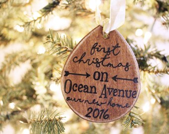 New Home Ornament -  New Home Housewarming Gift, First Home Ornament, Personalized Ornament, Christmas Gift, First Christmas Home