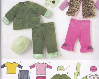 Simplicity 3582 Vintage Pattern Baby Pants, Jacket, Vest, Top, Hat and Scarf Size Preemie (XX SM), X Sm, Sm, Med Lg UNCUT
