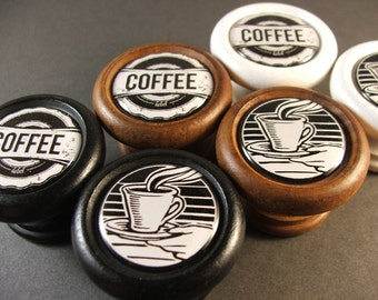 Vintage Retro Coffee Decorative Cabinet Knobs...Price is for 1 Knob (Quantity Discounts Available!)