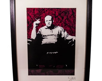 Tony Soprano - The Sopranos, signed art canvas print - Framed. From an original painting by Kyle Maclennan/Headon Art