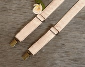 Champagne Cream Blush Suspenders  Wedding Suspenders  Men's Suspenders