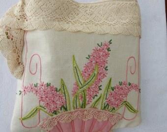 Pink Hyancinth Handbag