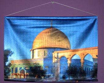 """El Aqsa Dome of the Rock Jerusalem Decorative Digital Print Wall Hang 27 x 18.5"""""""