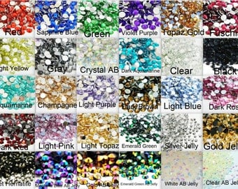 CHOOSE COLOR 1000 2mm Flatback Resin Rhinestones ss6 Faceted Round Bling High Quality Embellishments DIY Deco Bling Kit Nail Art Jewels