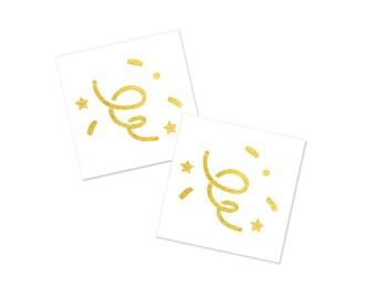 2 PACK Confetti Metallic Temporary Tattoo