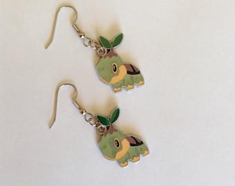 Pokemon Turtwig Dangle Earrings