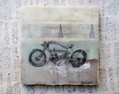 Vintage, Antique, Harley Davidson Motorcycle Art: Industrial Chic Home Decor