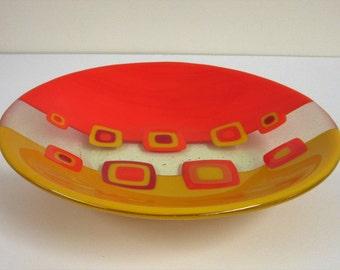Mod Marigold Fused Glass Bowl