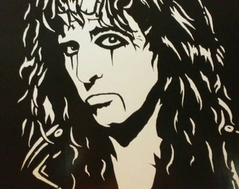 """ALICE COOPER in Art is a Limited Edition, 10""""x13"""" numbered Print of the Original Painting by Artist Charles Freeman"""