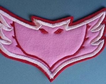 Large Adult Mom size Iron on Patch Owlette Emblem/ Logo. For T Shirt, Sweatshirt, Backpack, Halloween DIY PJ Masks Costume Owlette costume