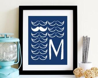 Mustache Alphabet Picture