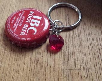 IBC Root Beer Bottle Cap Key Chain