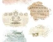 French Vintage Ephemera Overlays - Blendable - Page Element Blender - Digital Stamp - Digital Page Overlays - Texture Overlay for Papers