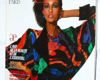 Vintage Elegance Paris Fashion Magazine, 1984