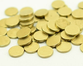 "20 pcs. 10 mm  (25/64"" ) Raw Brass 15 gauge  (1.5 mm thick ) Solid Brass Stamping Blanks"