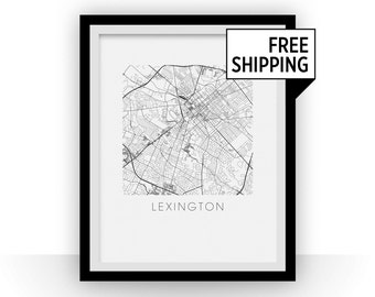 Lexington Map Print