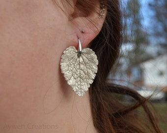Sterling Silver Earrings Made From REAL Leaves, Made To Order