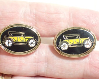 Model T Ford Car Enamel Vintage Cufflinks Fathers Day Gift