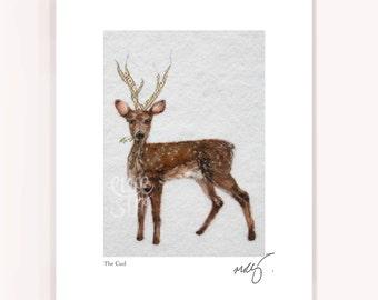 Deer art, antler print