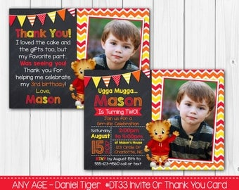 Any Age - Daniel Tiger Invitation OR Thank you card Digital File