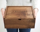 Keepsake Box - Wooden Box - Wedding Card Box - Photo Box - Groomsmen Gift - Memory Box - Wooden Photo Box - Gifts for Dad- Baby Keepsake Box