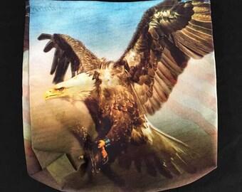 "Patriotic Tote Bag 13"" Eagle Americana Flag Constitution Gift National Symbol USA, Flag Day"