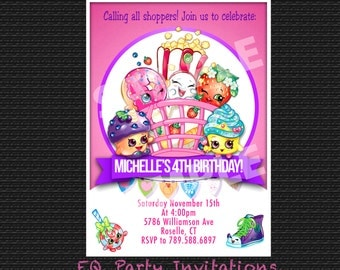Shopkins birthday invitation - printable