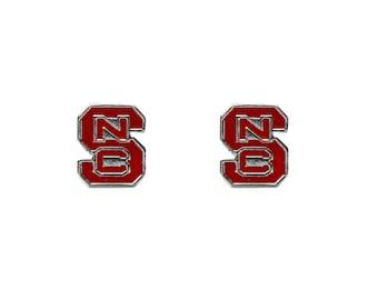 North Carolina State University (NCSU) Wolfpack Logo Stud Earrings