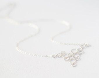 Silver Bubbles Pendant Necklace