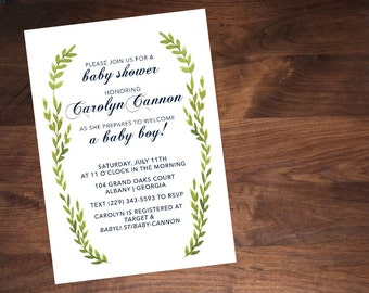 The Carolyn: Baby Shower Invitation