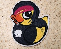 Retro Emo Kid Rubber Duckie Iron On Embroidery Patch MTCoffinz - - Choose Size