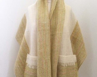 Vintage Multi Color Scarf with Pockets